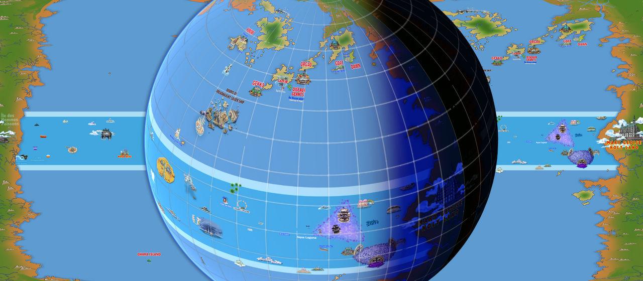 News Blue - One Piece World Map To Globe 3D-00 by KiwiK2010 on ...