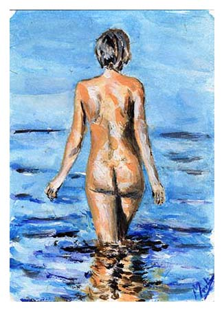 Venus going to bathe by martinrobinson