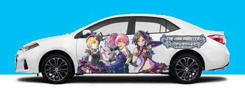 IdolM@ster Cinderella Girls Itasha car 6 by Toku-Betsu