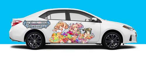 IdolM@ster Cinderella Girls Itasha car 5 by Toku-Betsu
