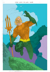 Jim Lee - Aquaman - Flats 1 by KevanG-Studio