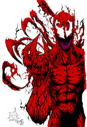 Carnage Inks and Flats by KevanG Studio by KevanG-Studio