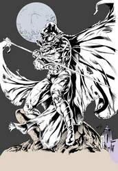 Moon Knight, Kevan G Studio,  Inks and Flats