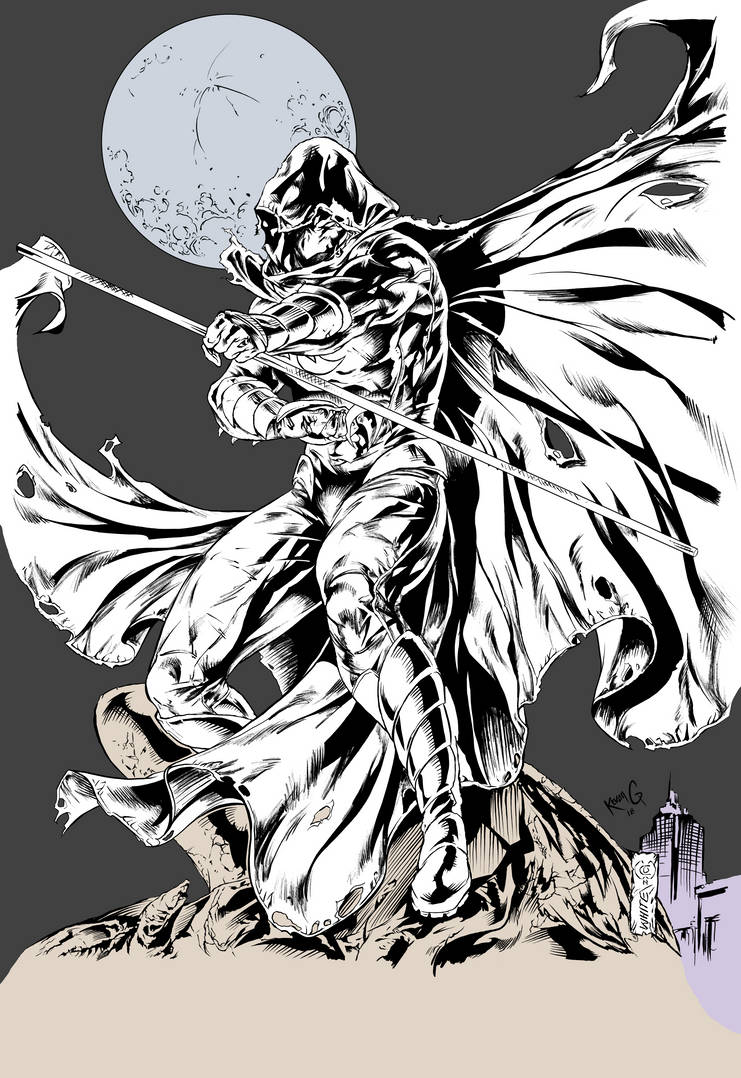 Moon Knight, Kevan G Studio,  Inks and Flats by KevanG-Studio