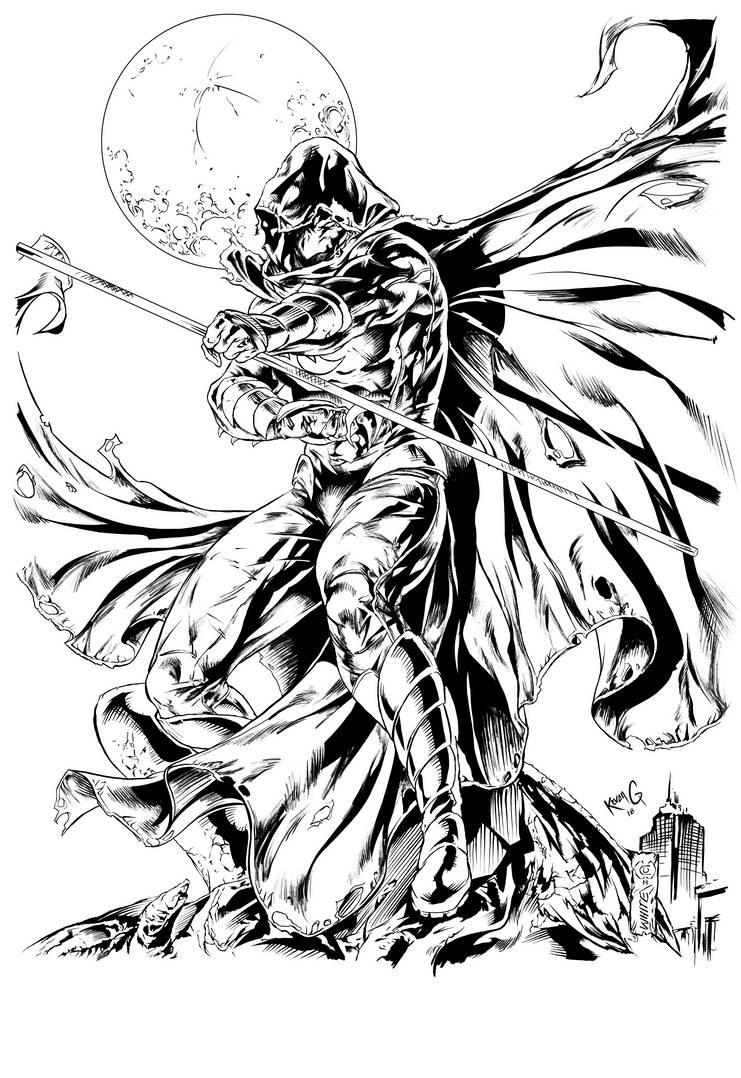 Moon Knight, Kevan G Studio, Inks by KevanG-Studio
