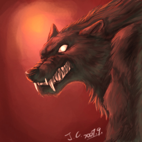 angry werewolf face - photo #1
