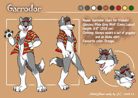 Garrodor model sheet by J-C