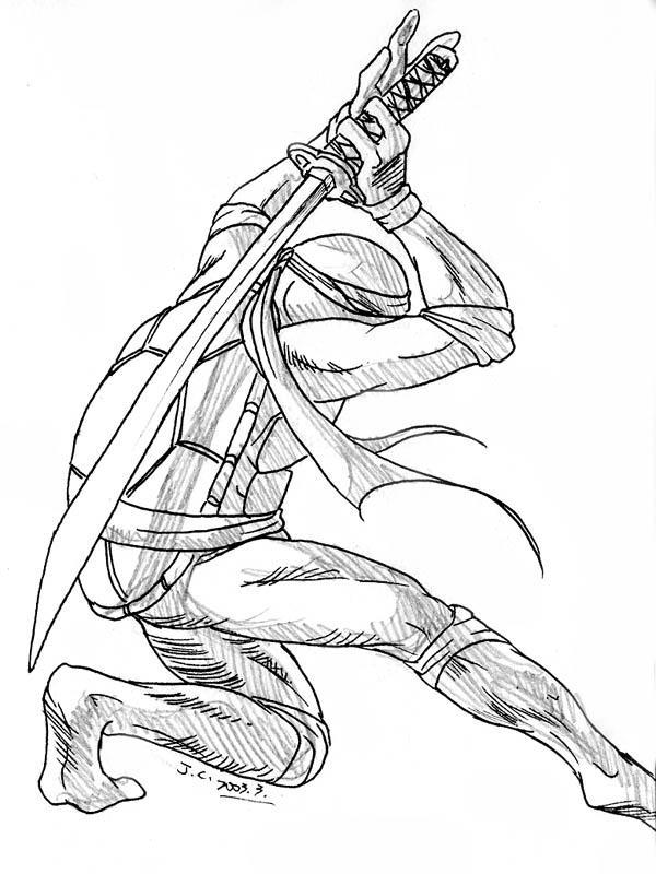 Tmnt 2003 coloring pages ~ Ninja Turtle--Leonardo by J-C on DeviantArt