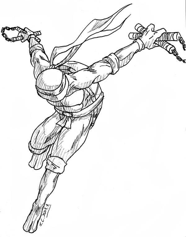 Ninja turtle michelangelo drawing - photo#3