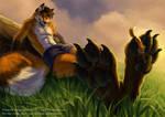 Fox on fox paws