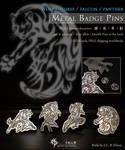 Panther metal badge pin