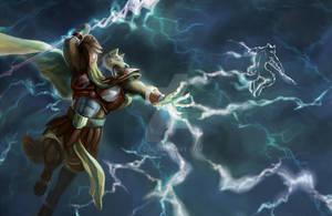Jupiter the god of thunder (close shot)