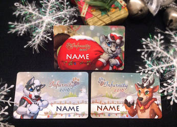 Infurnity Taiwan Furry convention con badge by J-C