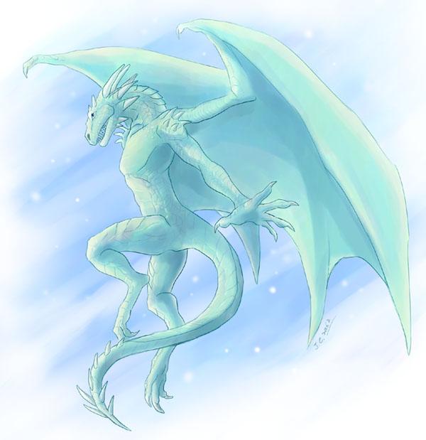 Dragon anthro by J-C