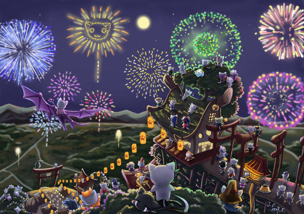 Fireworks celebration by J-C