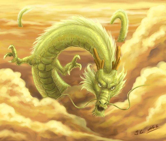 chinese dragon by j c