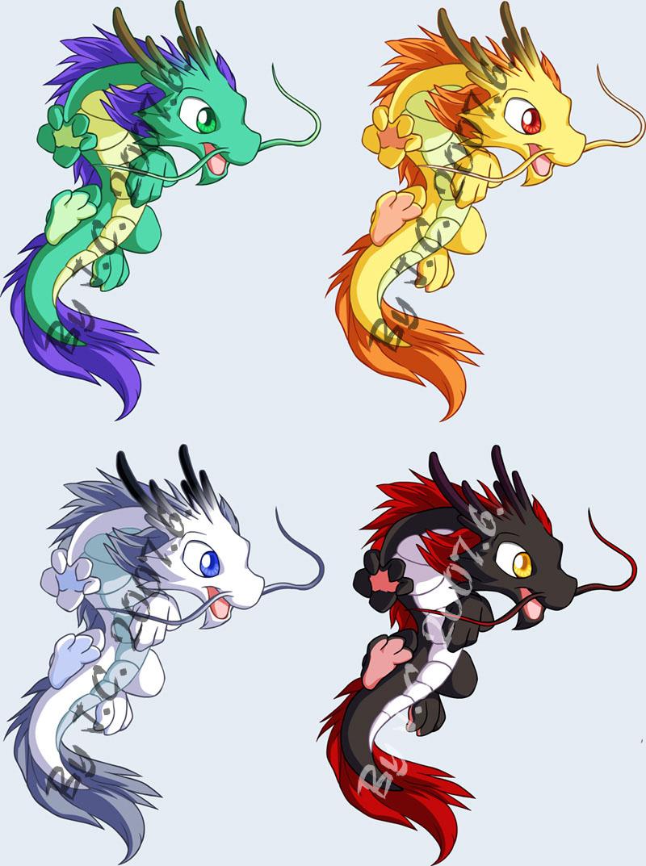 картинки дракона аниме карандашом