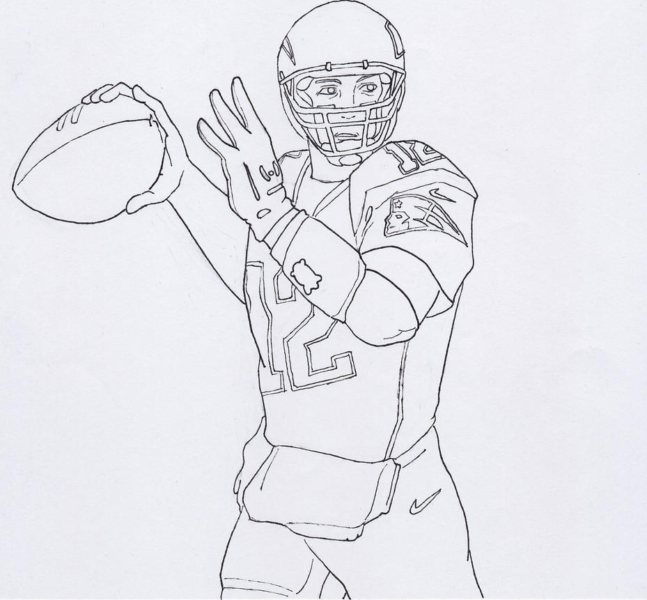 Tom brady by udon turtle on deviantart for Coloring pages of tom brady