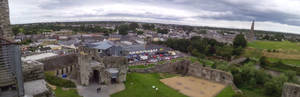 Panoramic - View from atop Trim Castle