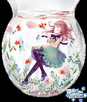 Anime Water Girl render