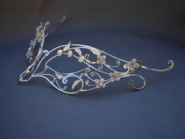 Unique Sterling bridal mask