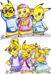 Alvin and the Pikachus by Piggykit