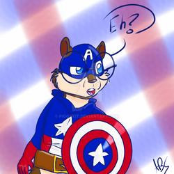 Simon Rogers-Captain Amerimunk by Piggykit