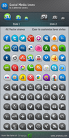 80 Social Media Icons