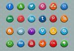 3D Social Media Icons