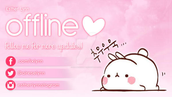 Esther Lynn's Offline Banner on Twitch by iammagicmatt