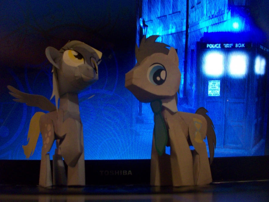 Doctor Whooves And Derpy Hooves By Christopherf10 On