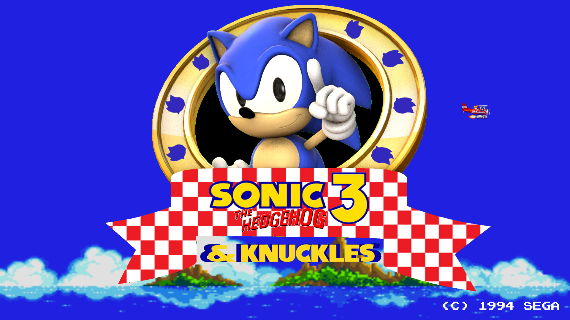 sfm sonic 3 and knuckles title screen remake by blueeyedthunder on deviantart. Black Bedroom Furniture Sets. Home Design Ideas