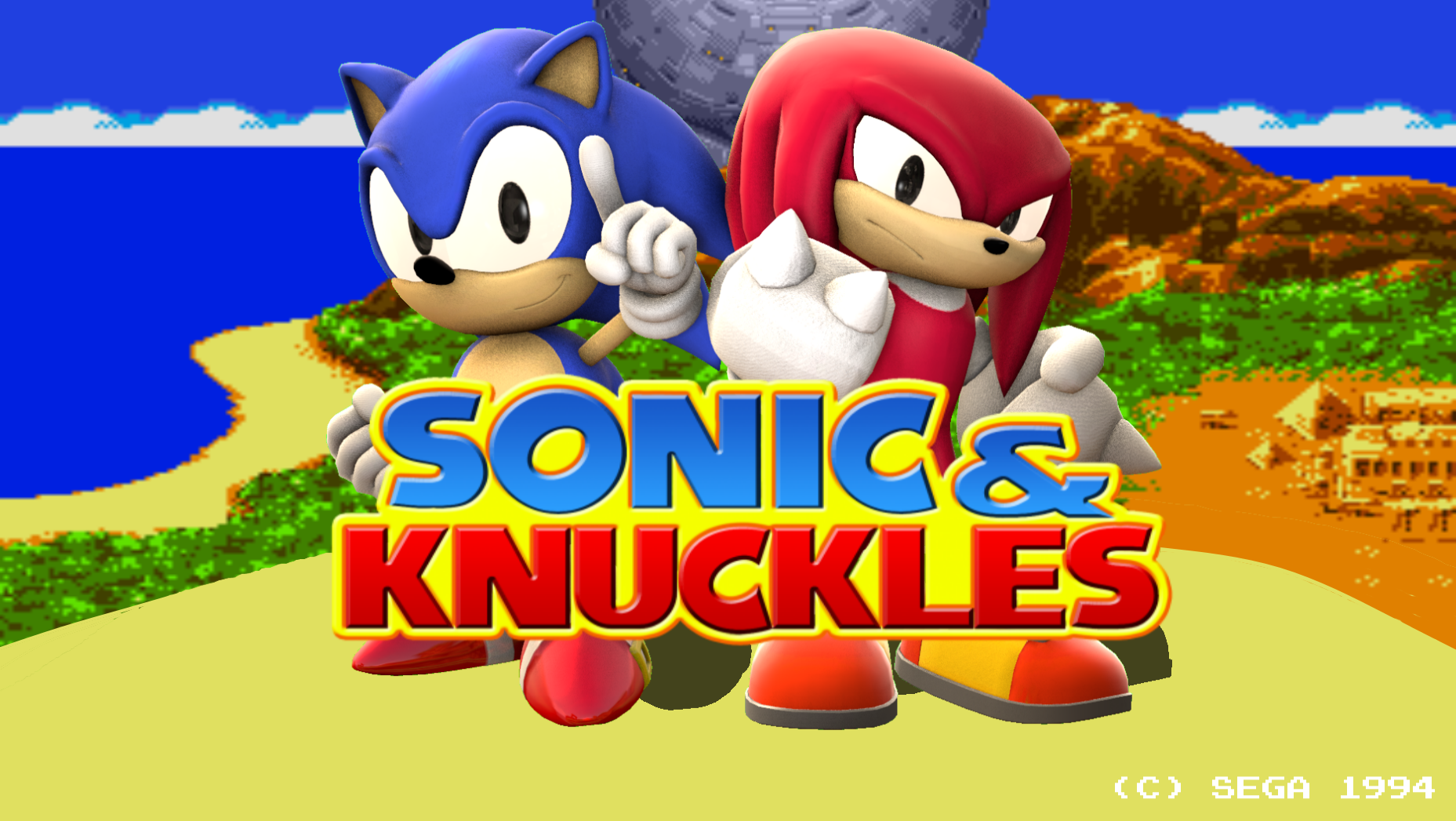 Sfm Sonic And Knuckles Title Screen Remake By Blueeyedthunder On Deviantart
