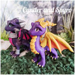 Spyro and Cynder the Dragons