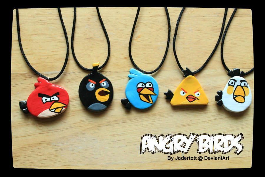 Angry Bird Charms by Jadertott