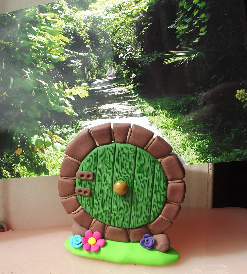 Hobbit hole door postcard holder by MeticulousBlue