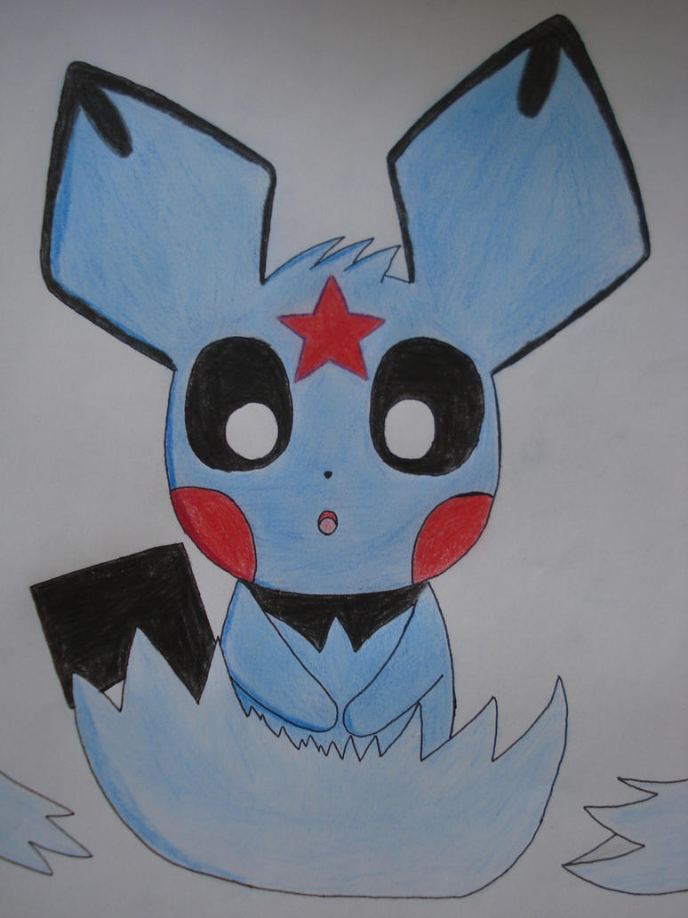 Adoro the blue Pichu by NIGHTSandTAILSFAN