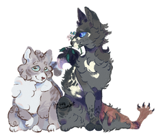 Littlecloud and Cinderpelt by picave