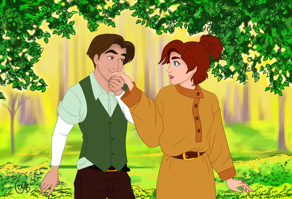 Anastasia and Dimitri by applejaxshii