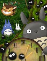 Timeless Totoro by applejaxshii