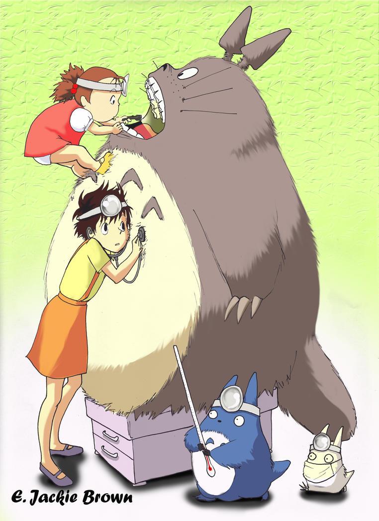 Totoro Check-up by applejaxshii