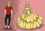 Before n After TG Yellow Ballgown