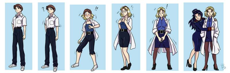 Shinji to Ritsuko TG Transformation