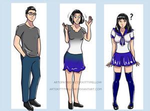 School girl TG Transformation
