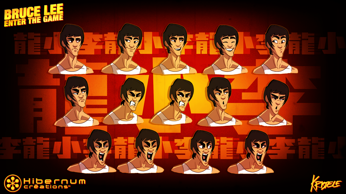 Bruce Lee Facial Expressions by Kristele