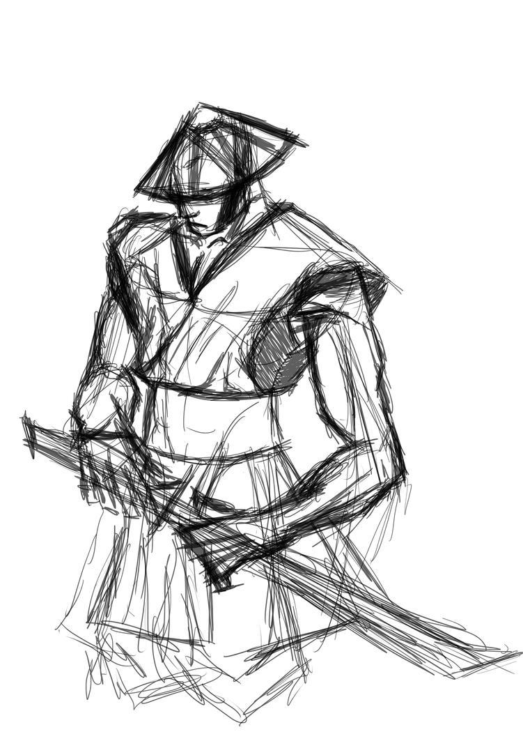how to draw samurai helmet