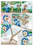 Commission: Megaman vs Elena by Matrix2006