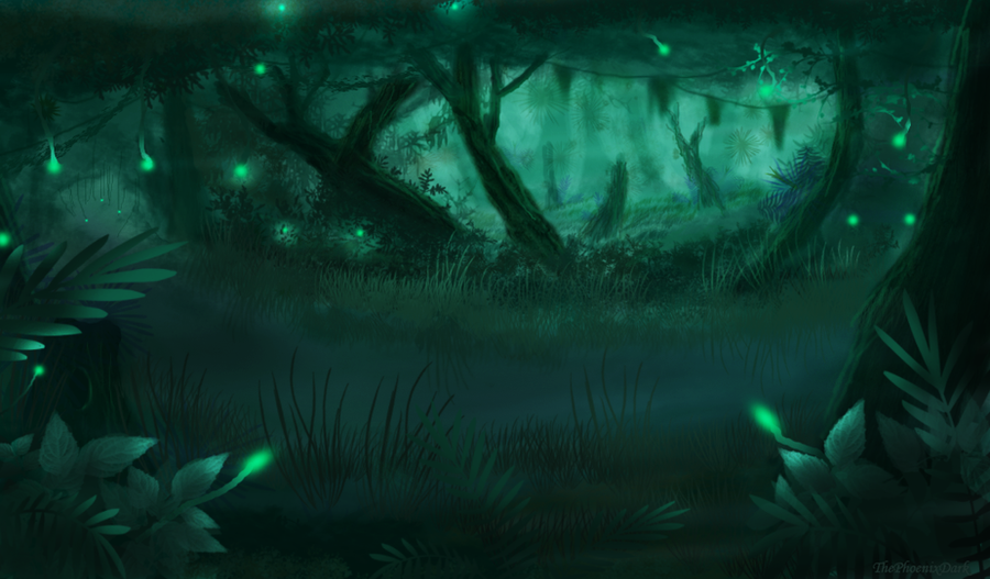 Swamp of Lights by JKRoots