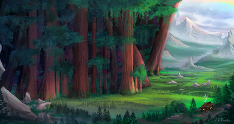 The Ancient Forest by JKRoots