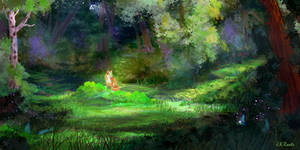 Fox In The Forest by JKRoots